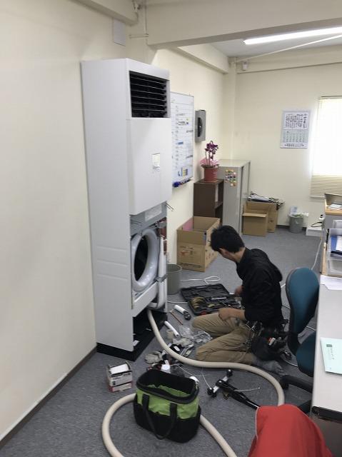 床置き型パッケージエアコン工事20180615 (1)